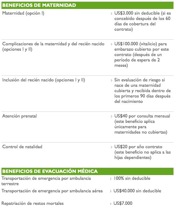 VUMI beneficios de maternidad alig seguros del ecuador broker